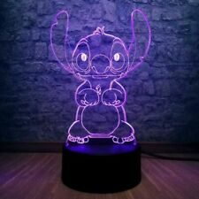 Stitch 3D 7 Colour Changing LED Night Light Lamp New - FAST DISPATCH !