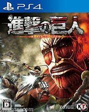 Used PS4 Shingeki no kyojin TITAN  SONY PLAYSTATION 4  JAPANESE JAPONAIS IMPORT