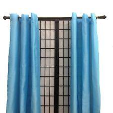 """2 Panels Faux Silk Grommet Window Curtains Drapes Each 54"""" Wide X 84"""" 16 Colors!"""