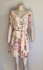 FOREVER NEW Peach Floral Dress Size 6