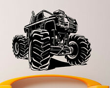 Monster Truck Wall Decal Vinyl Sticker Big Monster Car Interior Art Decor (4bmc)
