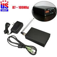 1mW 87-109MHZ transmitter Stereo FM MP3 Mini Radio Station+Power Supply+ Antenna
