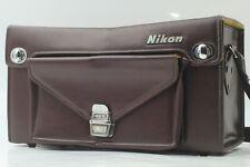 EXXC++++ Vintage NIKON FB-17 Leather Camera Bag Case W/ Shoulder Strap