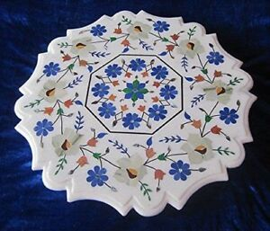 """24"""" Marble coffee Table Pietra Dura Floral Inlay art Home furniture decor"""
