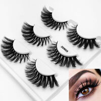 Handmade Natural Wispy Long  False Eyelashes Eye Lashes Extension 3D Mink Hair