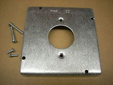 """Hubbell Raco 887 4-11/16"""" Square Cover Raised 1/2"""" for 20Amp Receptacle New"""