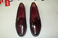 G.H. Bass Weejuns Logan Penny Loafer Real Leather Size 12 M Burgundy NIB