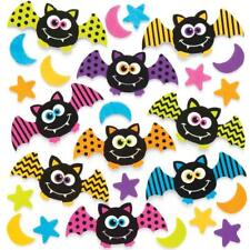 25 HALLOWEEN BAT Stickers Foam Kids Craft Peel Stick Activity Card Trick Treat