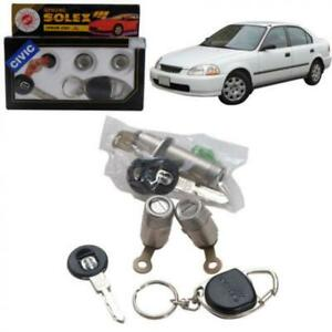 For 96-00 Honda Civic Ek Ej Em Solex Door Lock Security Safety Key Cylinder