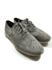 Cole Haan Sz 11 Zerogrand Wingtip Suede Leather Oxford Sneaker Gray Grand Os