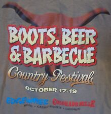 Boots Beer & Barbecue COUNTRY FESTIVAL LAUGHLIN NV 2014 Men's L T Shirt