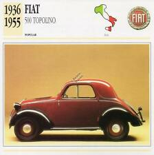 1936-1955 FIAT 500 TOPOLINO Classic Car Photograph / Information Maxi Card