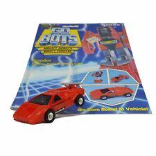 "Vintage TONKA GOBOTS ""SPOILER"" #20 Red Enemy SPORTS CAR w/ ORIGINAL CARD-BACK!"