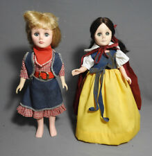 VINTAGE EFFANBEE SNOW WHITE AND COWBOY GIRL DOLLS 1970'S ORIGINAL OUTFITS LOT