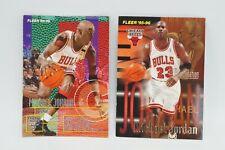 2x Michael Jordan Fleer Card Chicago Bulls Firm Foundation 95-96 SELTEN NBA