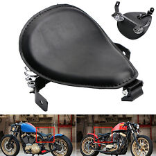 "Motorcycle Black Tuck & Roll SOLO Seat Saddle Bracket 3"" Spring Custom Bobber"