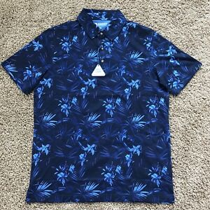 NEW Men's Hagger Polo Size Medium Floral Style New With Tags Blue