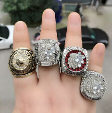4PCS 1960 2010 2013 2015 Chicago Blackhawks Stanley Cup Championship Ring Gift!