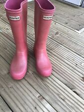 Pink HUNTER wellies - Size 2- Good Used Condition