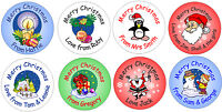 48 Personalised Christmas stickers for presents, cards, envelopes