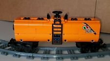 "NEW LEGO TRAIN ORANGE CUSTOM TANKER CAR 9"" inches long MOC/RC/9V/CITY/TOWN"