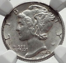 1942 D Mercury Winged Liberty Head Dime United States Silver Coin NGC i65226