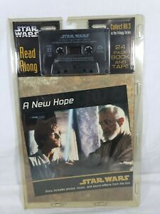 Star Wars A New Hope Read Along Book & Cassette Tape Disney 1997 Aus Seller