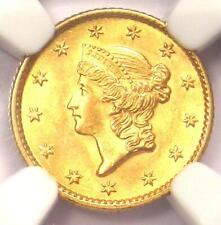 1853 Liberty Gold Dollar Coin G$1 - NGC MS66 - Rare in MS66 - $3,500 Value!