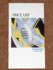 1990 VOLVO RANGE PRICE LIST - 240 740 760 340 480 440 GLT GLE GL SE Turbo D