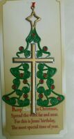 New Keep Christ in Christmas CROSS ON CHRISTMAS TREE ORNAMENT DECORATION
