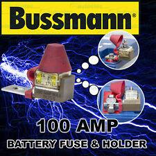 BATTERY 100A 100 AMP FUSE & HOLDER BLOCK KIT 12 12V VOLT DUAL SYSTEM BOX MRBF100