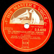 Richard Strauss: Till Eulenspiegel Boston S.O. Serge Koussevitzky  HMV 2x78 rpm