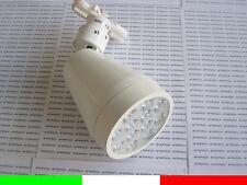 FARETTO LED 12w 220v PER BINARIO TRACK LAMPADA LUCE BIANCO CALDO 1150LUMEN