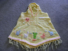 New Made In Peru Arpillera Poncho with Hood Size 4 Soft Spring Yellow #140102
