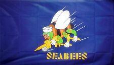 U.S. NAVY SEABEES 5 X 3 FEET FLAG CONSTRUCTION BATTALION USA AMERICA AMERICAN