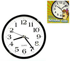 2 CRAZY BACKWARDS RUNNING TRICK CLOCK gag pranks clocks WEIRD NOVELTY WRONG WAY