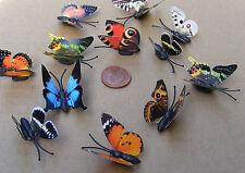 Individual Multicolor Papel Mariposa Imán De Nevera Pájaro Del Jardín Accesorio