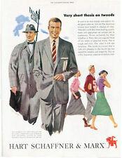 1952 Hart Schaffner & Marx Pan American Business Suit Gutercoats  PRINT AD