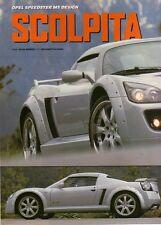 Q20 Clipping-Ritaglio 2002 Opel Speedster MS Design - Scolpita dal vento