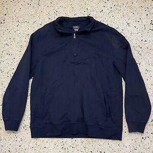 L.L. Bean Sweater Adult Extra Large Blue Quarter Zip Pullover Casual Comfort Men