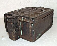 Old Indian Wooden Box Masala Box Spice Box 5 Compartment