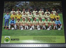 CLIPPING POSTER FOOTBALL 1986-1987 FC NANTES FCN CANARIS LA BEAUJOIRE