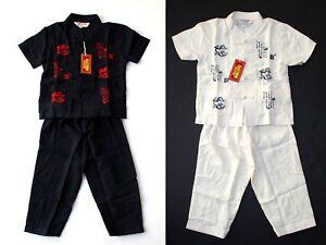 KUNG FU / KARATE 2 PIECE SET Pajamas Dragon Soft Cotton Unisex Toddler SIZE 4/4T