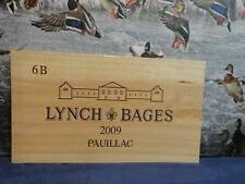 2009 LYNCH BAGES FRANCE WOOD WINE PANEL END