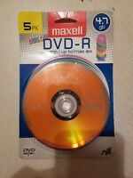 Maxell 638033 4.7 GB DVD-RS (5 Pack) NEW FREE SHIPPING
