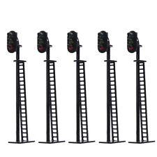 JTD02 5pcs Model Railway Block Signals G/Y/R HO or OO Scale 8.5cm 12V Led New