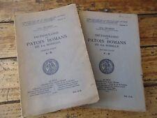 RARE DICTIONNAIRE DES PATOIS ROMANS DE LA MOSELLE ZELIQZON EO 1922 EX-LIBRIS