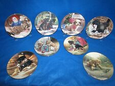 Set Of 8 Puppy Playtime Plate Collection 1987 Numbered Plates By Jim Lamb In Euc