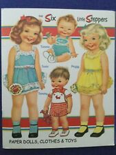 SIX LITTLE STEPPERS PAPER DOLLS STUDIO PRESS 2008 by JUDY JOHNSON PAGES UNCUT