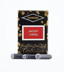 18pk of Diamine Fountain Pen Ink Cartridges - ANCIENT COPPER Colour Ink